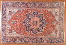 Antique Herez carpet, approx. 8.7 x 12.8