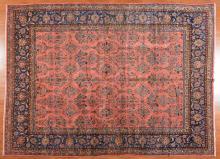 Antique Manchester wool Keshan carpet