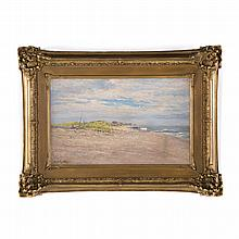 Edward S. Holloway. Expansive Beach, oil on board