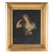 Continental School, 18th c. Mary Magdalene, oil