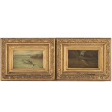 Arnoud Wydeveld. A Pair of Fish Paintings, oil