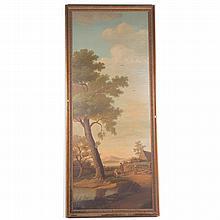 Rudolf Mueller. Landscape with Figures, oil