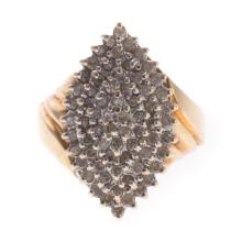A Lady's Diamond Navette Ring in Gold