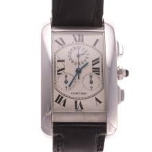 A Gent's Cartier Tank Americaine Chronograph