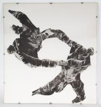 Gerard Koch. Acrobats, collage on paper