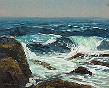 "Alfred Nunamaker. ""Ocean Waves,"" oil on canvas"