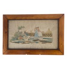 English needlework picture, Finding Fairies