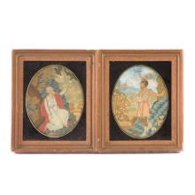 Two English religious needleworks