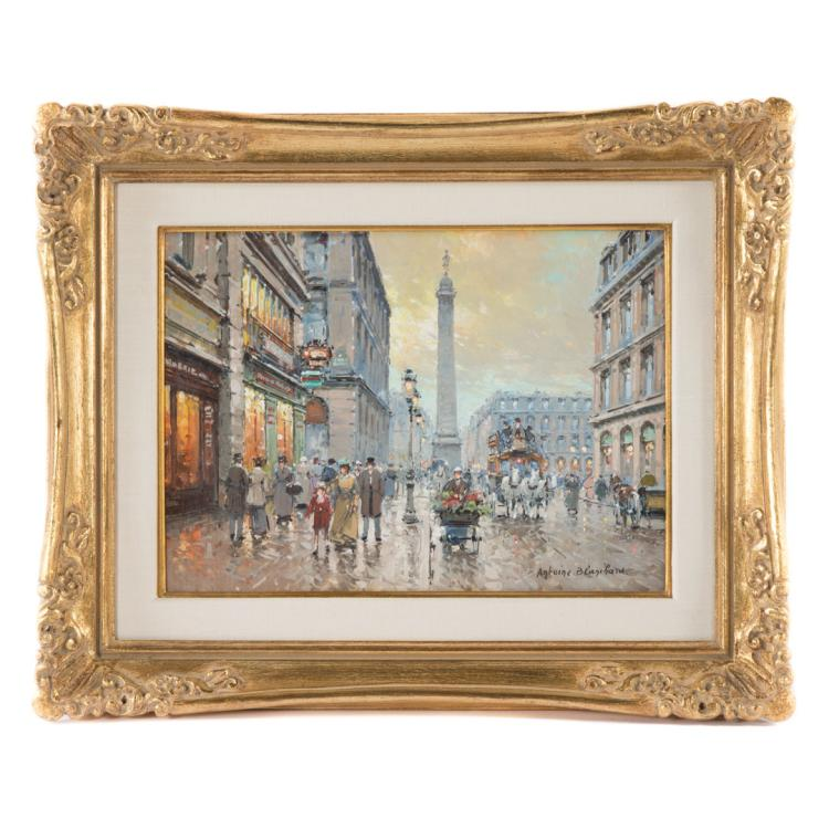 Antoine blanchard place vendome oil for Alex cooper real estate auctions