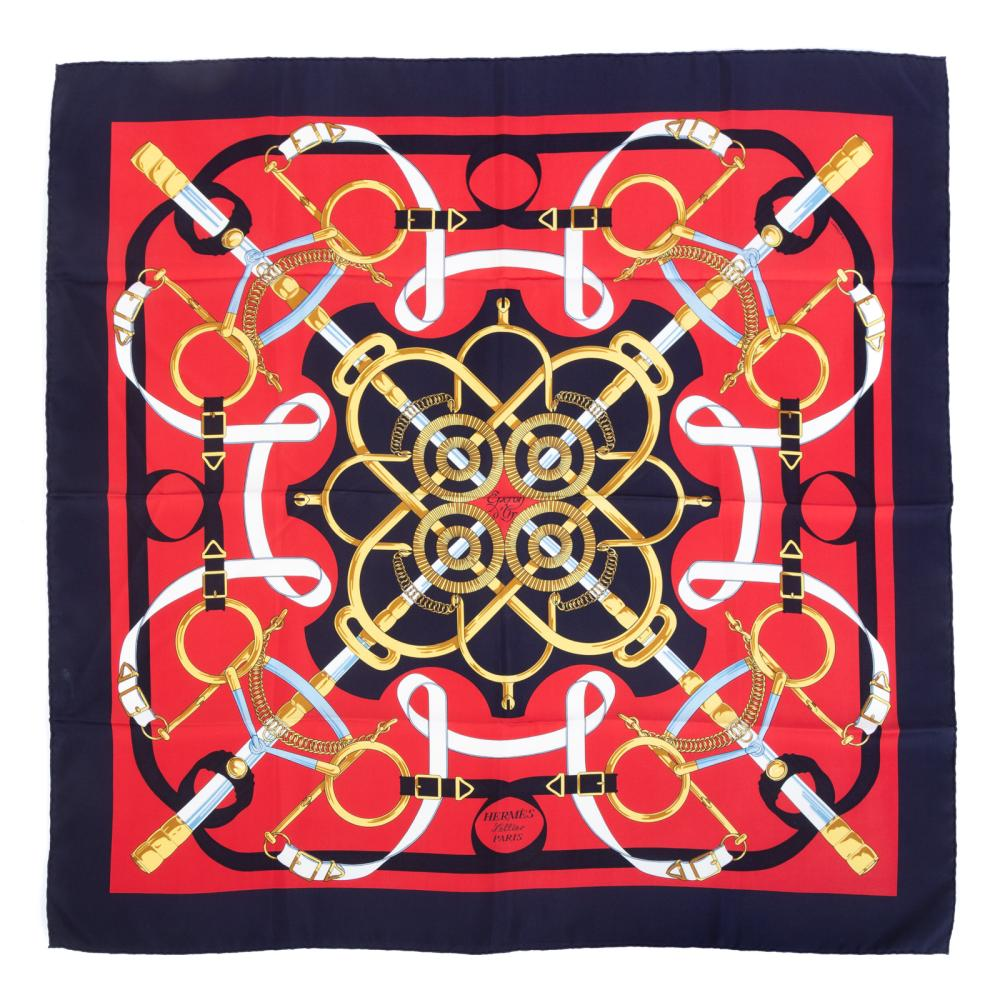 """An Hermes """"Emperon d'Or"""" Scarf 90"""