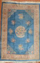 90-Line Chinese carpet, approx. 8 x 10