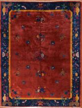 Antique Nichols Chinese rug, approx. 8.9 x 11.1