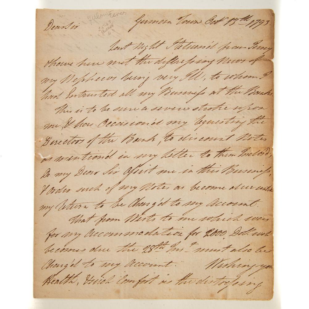 Walter Stewart, Revolutionary Officer, ALS, 1793