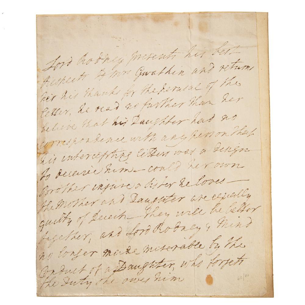 Adm. George B. Lord Rodney AL, British Navy, 1782