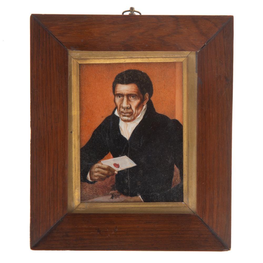 Rare Portrait Miniature of an African American Man