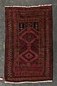 Semi-antique Belouchistan rug, Afghanistan, circa 1950, approx. 2.10 x 4.6