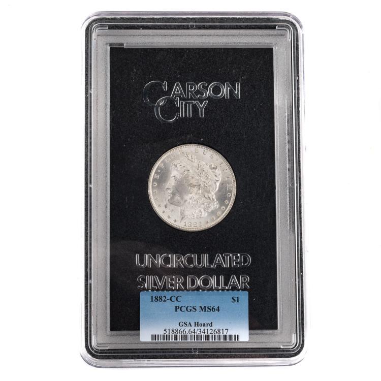 Us 1882 cc morgan dollar gsa pcgs ms64 for Alex cooper real estate auctions