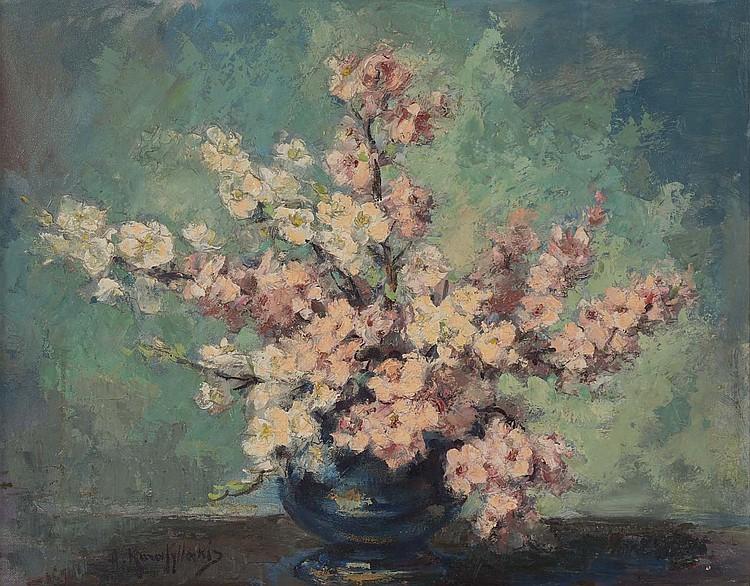 Antonis Karafyllakis. Dogwood Blossoms, oil