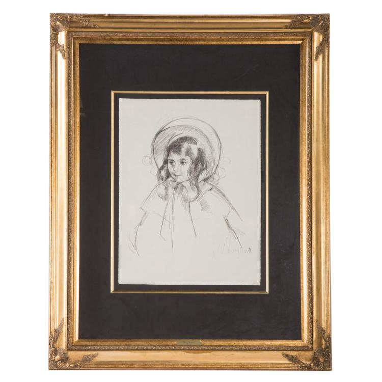 Mary cassatt sara wearing her bonnet and coat for Alex cooper real estate auctions