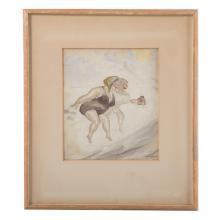 Aaron Sopher. Two Framed Drawings