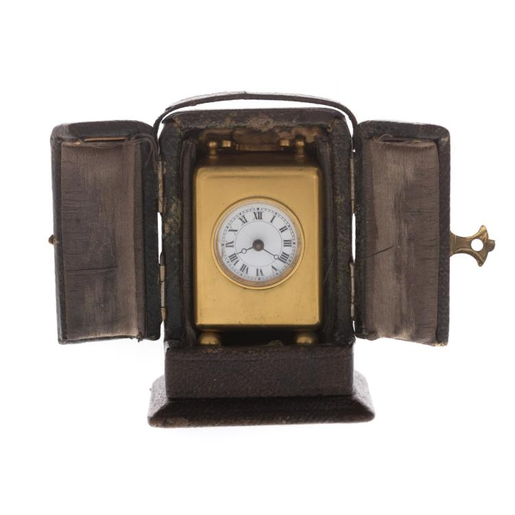 A Miniature French Travel Clock