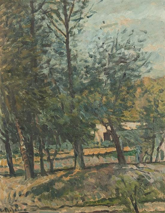 Alceu ribeiro uruguayan b 1919 landscape with trees oil for Alex cooper real estate auctions