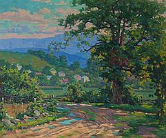 """Garnet W. Jex, American, 1895-1979, """"Near Antietam"""", oil on canvas, 20 x 24 in., framed"""