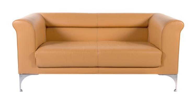 Roche bobois contemporary leather settee - Chaise roche bobois cuir ...