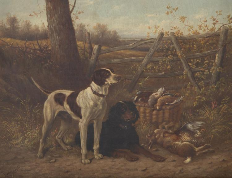 Howard Hill. Spoils of the Hunt, oil on canvas