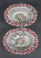 Pair of Schierholz, Dresden, reticulated porcelain baskets