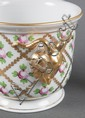 Herend porcelain vase and cachepot in the