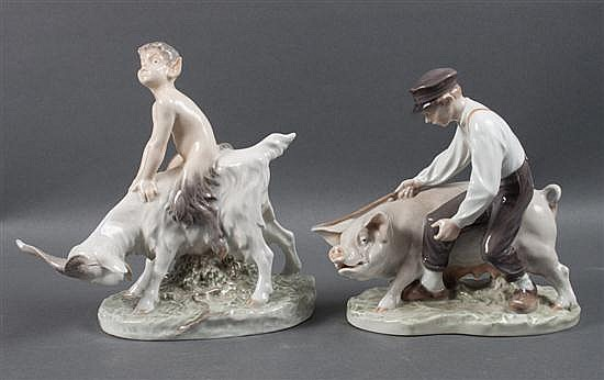 Two Royal Copenhagen porcelain figures: