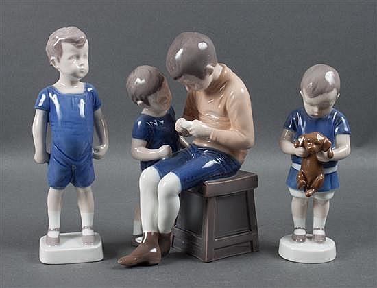 Three Bing & Grondahl porcelain figures
