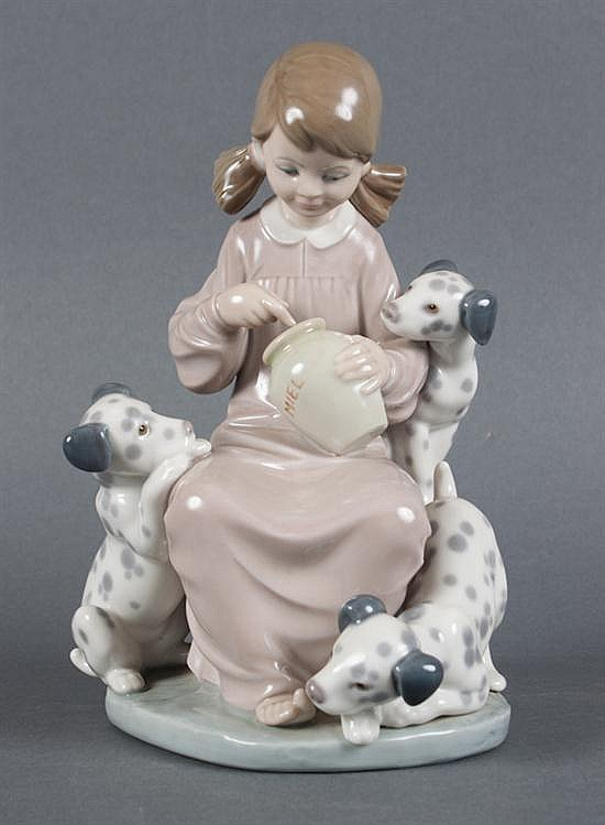Lladro porcelain group:
