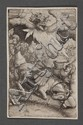 Lambert Hopfer, German, c. 1510-c.1550, The Conversion of Saul, copper engraving, 5 7/16 x 3 7/16 in., 13.8 x 8.6 cm., Lambert Hopfer, Click for value