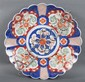 Japanese Imari porcelain scalloped charger