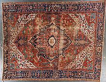 Antique Serapi carpet, approx. 10.8 x 13.6