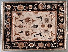Tibetan carpet, approx. 8.7 x 10.10