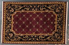 Indo Aubusson rug, approx. 6.1 x 9.1