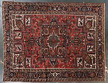 Semi-antique Herez carpet, approx. 9.7 x 12