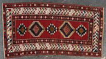 Antique Kazak rug, approx. 4.3 x 8.2
