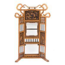 Chinese fruit wood dressing mirror