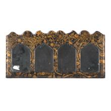 English lacquered and decoupage mirror