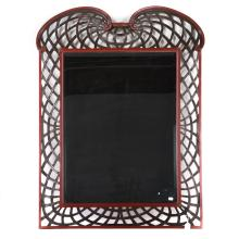 Italian carved and painted wood mirror
