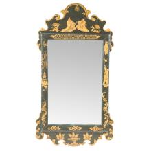 Queen Anne style japanned mirror