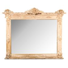 Renaissance Revival carved giltwood mirror