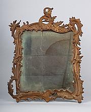 Rococo Revival gilt iron easel-back mirror