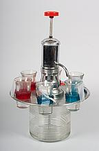 Art Deco chrome and glass liquor dispenser