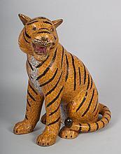 Chinese cloisonné enamel tiger