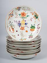 Eight Chinese porcelain plates